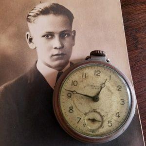 Vintage Westclox Scotty pocketwatch as is watch